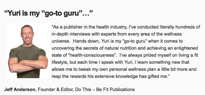 Super Nutrition Academy by Yuri Elkaim Success